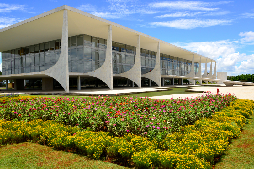 Foto da fachada do Palácio do Planalto